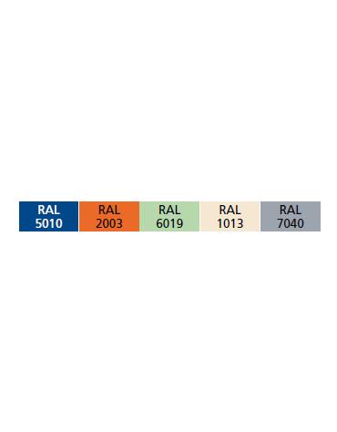 Comodino Febo colori a scelta - ripiano interno removibile, 4 ruote di cui 2 con freno - cm 42x40x80h
