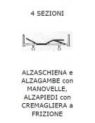 4 sez. Alzaschiena/alzagambe/alzapiedi SPP 2r fisse 2 gir