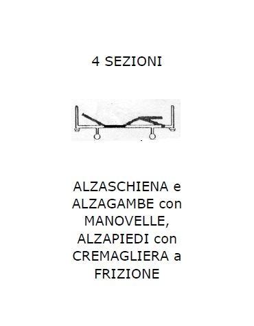 4 sez. Alzaschiena/alzagambe/alzapiedi SPP 4 ruote
