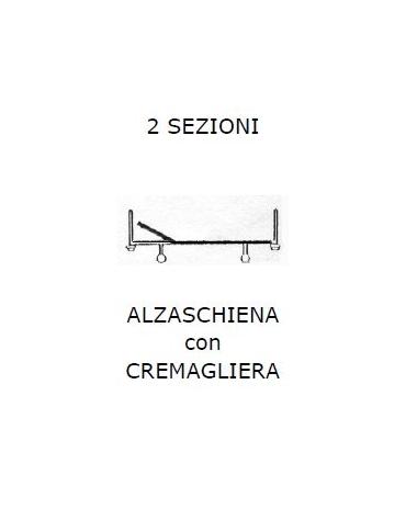 SPP RR LETTO 2 SEZ - ALZASCH c/CREM 2 ruote fisse 2 piedini
