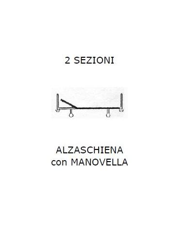 Letto 2 sez. Alzasch c/manovella SPP 4 piedini