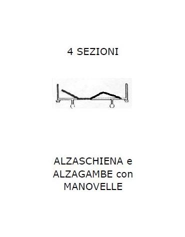 Letto 4 sez SPP Alzasch-alzag c/MANOVELLA 2 r fisse 2 piedini