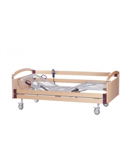 Letto ospedaliero elettrico con sponde a tre snodi smontabile su ruote - Letto ospedaliero con sponde ...