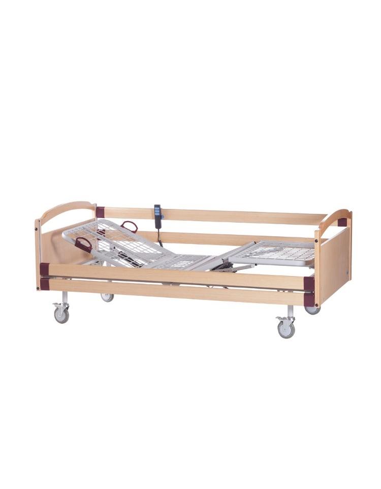 Letto degenza ospedaliero con schienale regolabile a 1 snodo cm 206 x 89 x h 90 - Letto ospedaliero con sponde ...