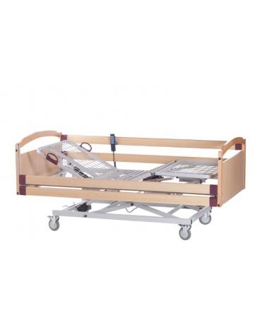 Letto degenza ospedaliera con schienale regolabile a 1 snodo - cm 206 x 89 x h 90