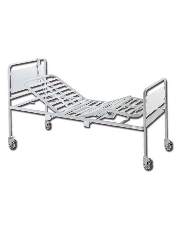 Letto degenza ospedaliero con testate cromate 3 snodi elettrico ruote cm 92x207x95h - Letto ortopedico elettrico usato ...