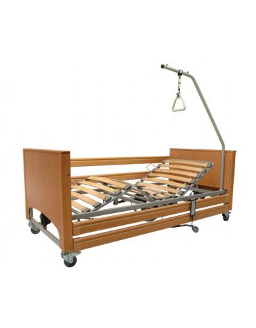 Letto degenza ospedaliero a 3 snodi, 4 sezioni - altezza regolabile - cm 103x214x40/80h