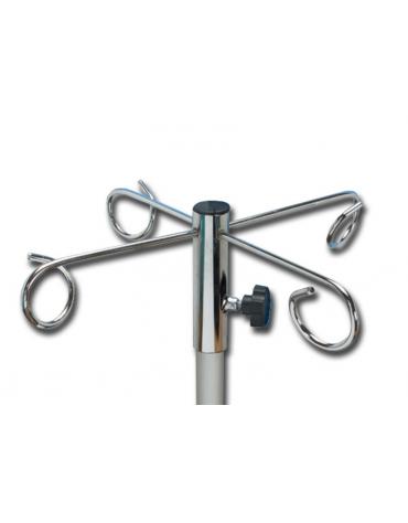 Supporto in metallo per cestello flebo Ganci: 4 - portata: 1 Kg per gancio