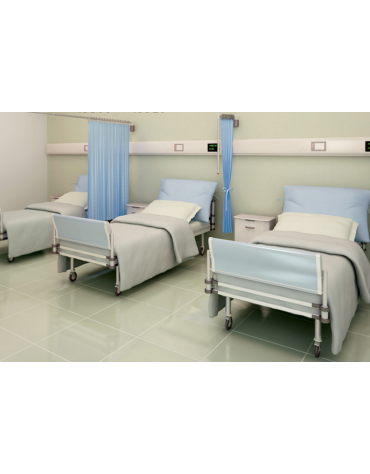 Tenda ospedaliera in Trevira®, colore pesca -  ignifugo, antiallergico, antibatterico, impermeabile - cm 175x145