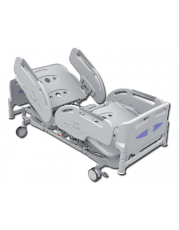 Letto ospedaliero a 3 snodi e 4 sezioni regolabili elettricamente e ad altezza variabile - cm 200x88x38/78h