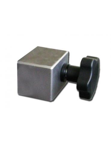 Morsetto in acciaio inox 100% per collegare l'asta flebo ai tavoli operatori.