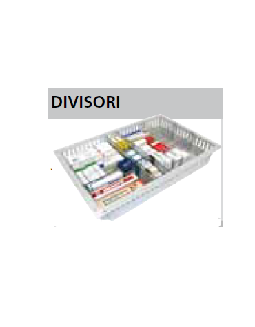 Divisorio per cassetti ISO - mm 600x50h