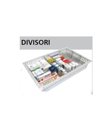 Divisorio per cassetti ISO - mm 600x200h