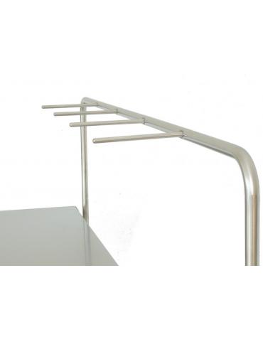 Tavolo carrellato per sala operatoria o porta strumenti, in acciaio inox AISI 304 - 1 ripiano - cm 120x65x95h
