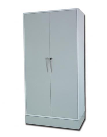 Armadio in metallo verniciato - 4 ripiani - porte con serratura, 4 piedini - cm 100x50x200h