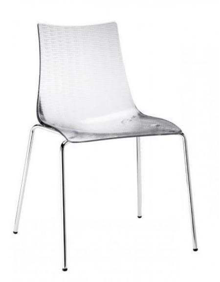 Sedia in acciaio e metacrilato trasparente - Sedie e tavoli per bar ...