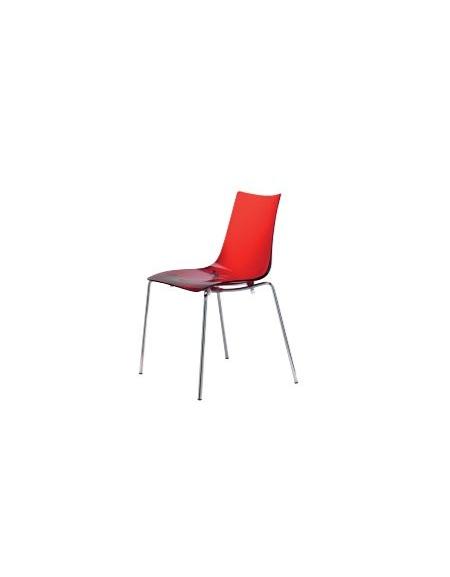 Sedia in acciaio e metacrilato gialla sedie e tavoli per for Sedia ufficio gialla