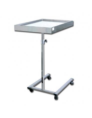 Tavolo Mayo forma a U in acciaio inox - vassoio rimovibile - altezza regolabile