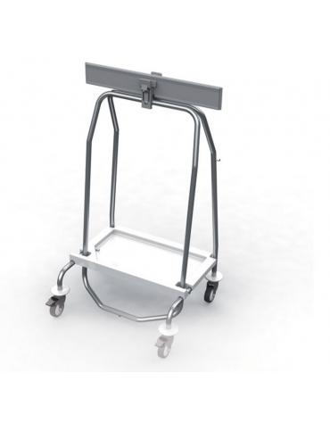 Carrello in acciaio inossidabile ideale per trasportare un sacco da 70 litri (non incluso)