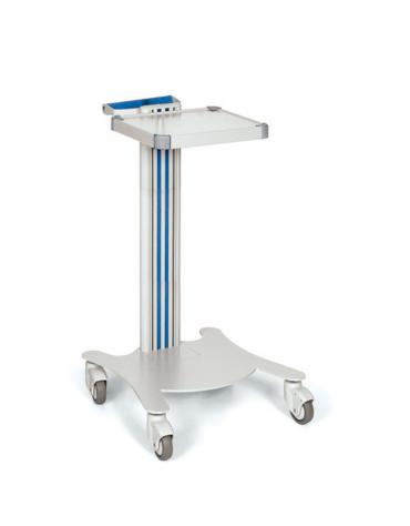 Carrello ospedaliero multifunzione con 1 maniglia, 1 ripiano cm 32 x 26 - cm 47x42x79h