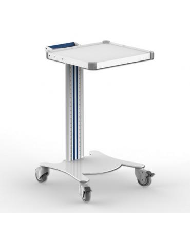 Carrello ospedaliero multifunzione con 1 maniglia, 1 ripiano cm 40 x 36 - cm 47x42x79h