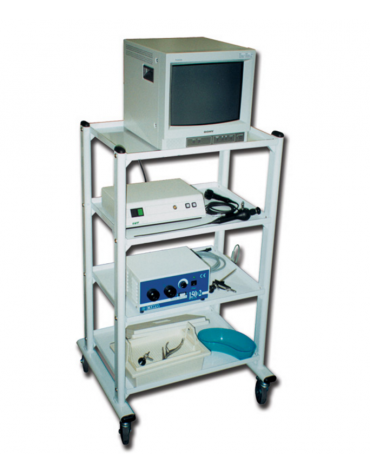 Carrello ospedaliero 3 ripiani cm 60x45 - 4 rotelle di cui 2 con freno - cm 60x45x78h