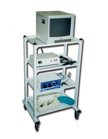 Carrello ospedaliero 4 ripiani cm 60x45 - 4 rotelle di cui 2 con freno - cm 60x45x110h
