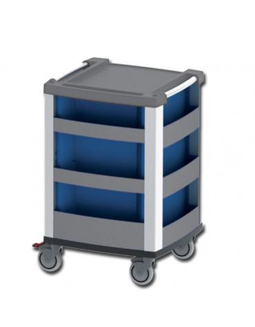Carrello multifunzione e per emergenza in alluminio - cm 60,5x65,5x97h