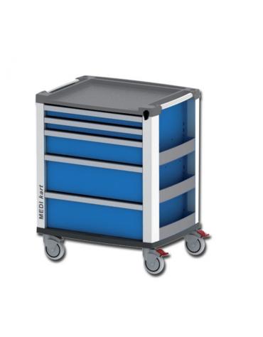 Carrello multifunzione e per emergenza in alluminio - cm 60,5x80,5x97h