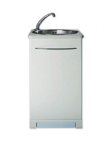 Lavello ospedaliero automatico con vasca in acciaio inox con sistema a pompa - cm 47x54x86h