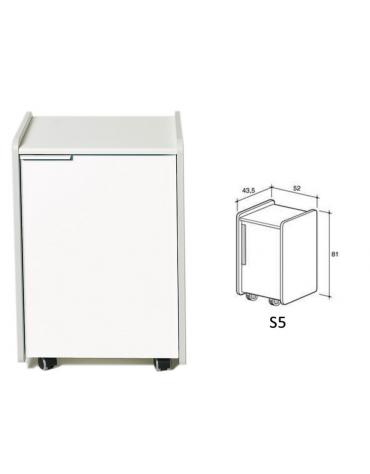 Mobiletto S5 per piani di lavoro ospedaliero - cm 52x43.5x81h