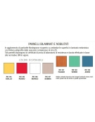 Banco monoposto sottopiano polipropilene colorato CM 70X50