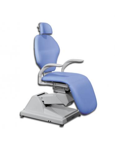 Poltrona ORL ortopedica - con poggiatesta - colore blu Chicago - cm 65x48x122h