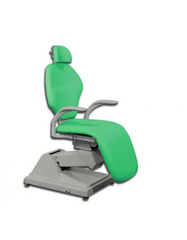 Poltrona ORL ortopedica - con poggiatesta - colore verde Toronto - cm 65x48x122h