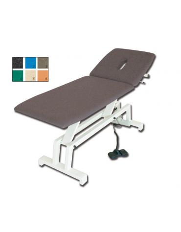 Lettino visita e trattamenti regolabile in altezza elettrico - colore a scelta - cm 68x193x64/89h