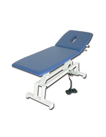 Lettino visita e trattamenti regolabile in altezza elettrico - colore blu - cm 68x193x64/89h