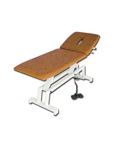 Lettino visita e trattamenti regolabile in altezza elettrico - colore beige - cm 68x193x64/89h