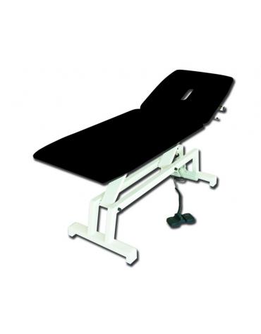 Lettino visita e trattamenti regolabile in altezza elettrico - colore nero - cm 68x193x64/89h