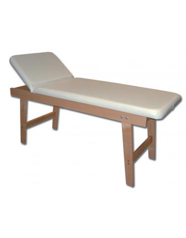 Lettino visita in legno - faggio - colore crema - cm 190x70x70h