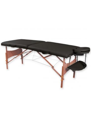Lettino da massaggio in legno pieghevole a 2 sezioni e ad altezza regolabile - cm 185x70x62/87h