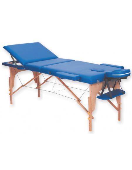 Lettino Da Massaggio Pieghevole.Lettino Da Massaggio In Legno Pieghevole A 3 Sezioni Colore Blu Cm 185x70x62 87h