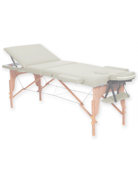 Lettino Pieghevole Da Massaggio.Lettino Da Massaggio In Legno Pieghevole A 3 Sezioni Colore Crema Cm 185x70x62 87h