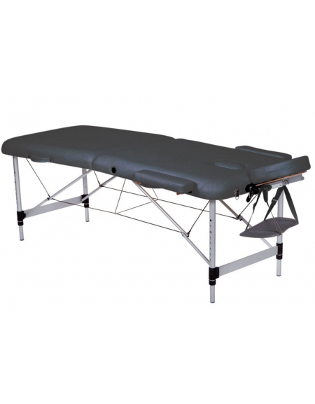 Lettino Da Massaggio Pieghevole.Lettino Da Massaggio In Alluminio Pieghevole A 2 Sezioni Colore Nero Cm 186x70x59 80h