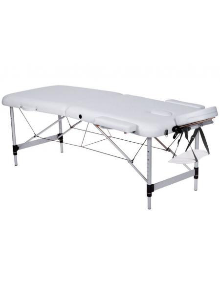 Lettino Da Massaggio Pieghevole.Lettino Da Massaggio In Alluminio Pieghevole A 2 Sezioni Colore Bianco Cm 186x70x59 80h
