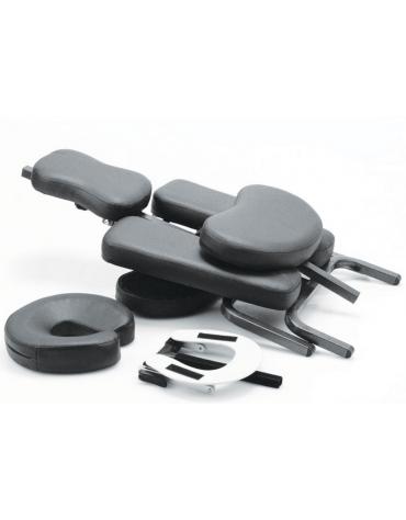 sedia da massaggio pieghevole, con intelaiatura metallica - cm 106x27x50h
