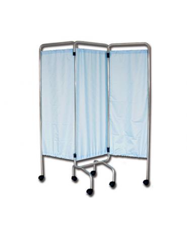 Telaio di paravento a  3 ante con ruore - senza tende - cm 150x170h