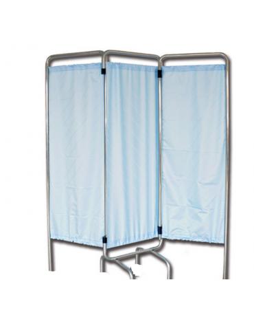 Telaio di paravento a  3 ante con piedini - senza tende - cm 150x170h