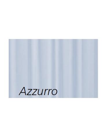 Paravento 3 ante con tende Trevira® colore azzurro - cm 60x60x60x180h