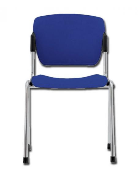 Sedute In Plastica Per Sedie.Sedia Da Attesa In Acciaio Cromato E Seduta In Plastica Impilabile