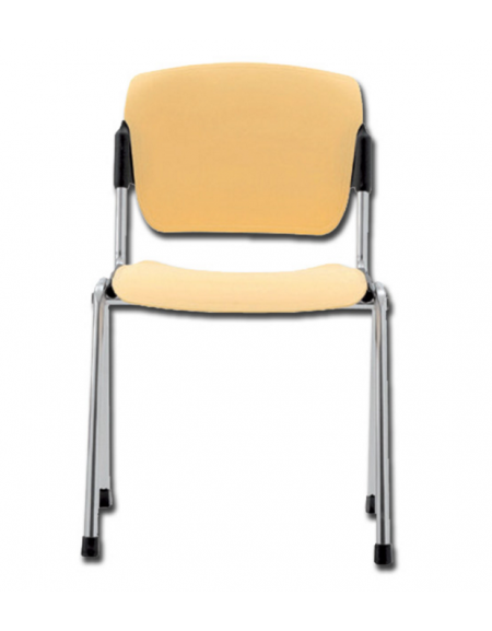 Sedie Acciaio E Plastica.Sedia Da Attesa In Acciaio Cromato E Seduta In Plastica